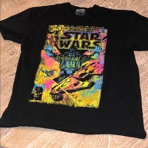 Star Wars black light shirt men's XL neon pink